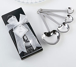 """Love Beyond Measure""  Heart-Shaped Measuring Spoons in Gift Box"