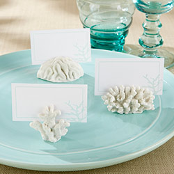"""Seven Seas"" Coral Place Card/Photo Holder (Set of 6)"