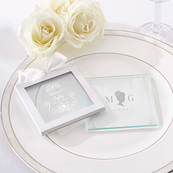 Personalized Glass Coaster - English Garden (Set of 12)