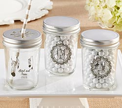 Personalized Printed Mason Jar - Boho (Set of 12)