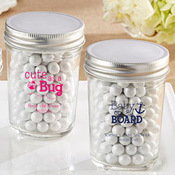Personalized Printed Glass Mason Jar - Baby (Set of 12)