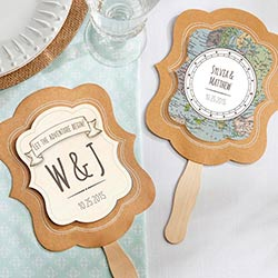 Personalized Kraft Fan - Travel and Adventure (Set of 12)