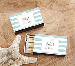 Personalized Black Matchboxes - Beach (Set of 50)