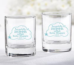 Personalized Shot Glass/Votive Holder - To the Moon & Back