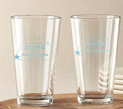 Personalized Pint Glass 16 oz. - To the Moon & Back