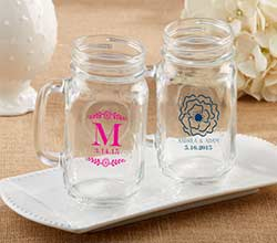 Personalized 16 Oz. Mason Jar Mug - Botanical