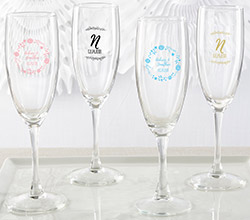 Personalized Champagne Flute - Ethereal
