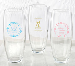 Personalized 9 oz. Stemless Champagne Glass - Ethereal