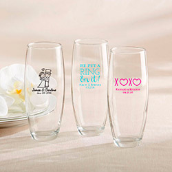 Personalized Stemless Champagne Glass – Wedding
