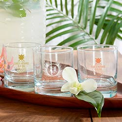 Personalized 9 oz. Rocks Glass - Tropical Chic