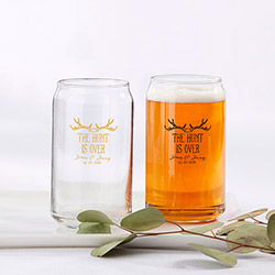 Personalized 16 oz. Can Glass - The Hunt is Over