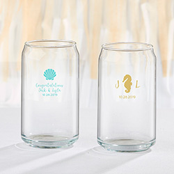 Personalized 16 oz. Beer Can Glass - Seaside Escape
