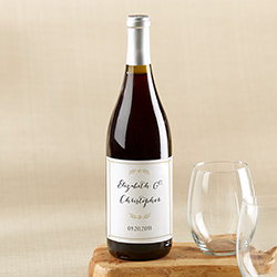Personalized Wine Bottle Labels - Classic Wedding