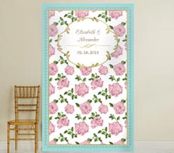Personalized Photo Backdrop - Tea Time