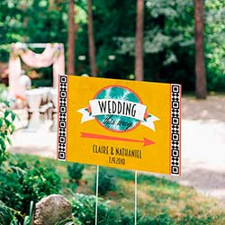 Personalized Directional Sign (18x12) - Tropical Chic