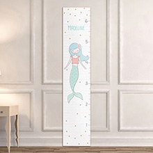Personalized Simply Enchanted Growth Chart: Mermaid and Unicorn