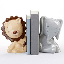 Ceramic Safari Bookends